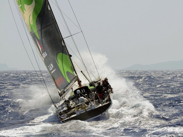 Green Dragon is chasing down the leading duo of Ericsson boats