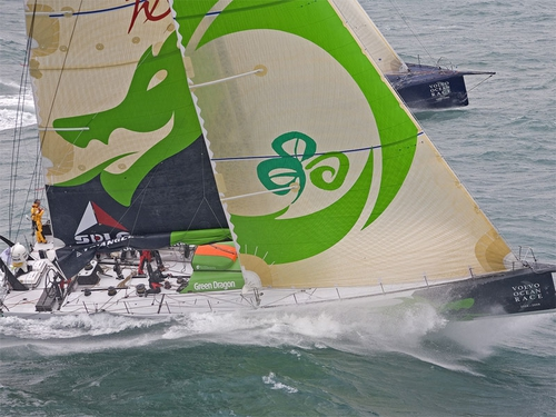 Green Dragon currently sits in third place in the Volvo Ocean Race