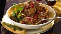Bord Bia's Lamb Casserole with Cranberries and Port - This meal which can also be made with beef is a great option for a New Yea's Eve party.