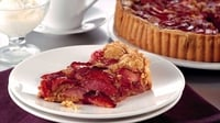 Bord Bia's Plum and Almond Tart - This delicious tart is best served warm with a spoonful of lightly whipped cream or vanilla ice-cream