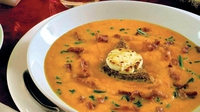 Sweet Potato Soup - A magnificent starter to the meal of the year, this recipe for sweet potato soup by Garth McColgan is a true Christmas cracker.