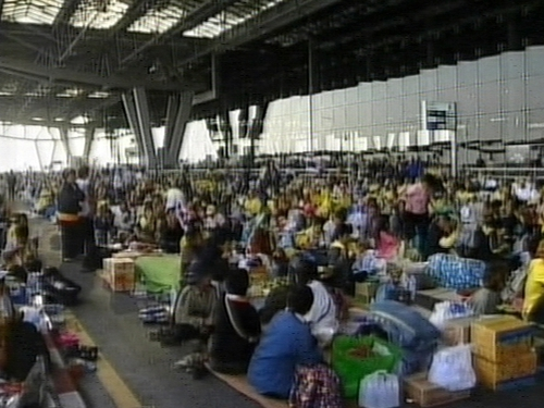 Bangkok - Protestors at Suvarnabhumi airport