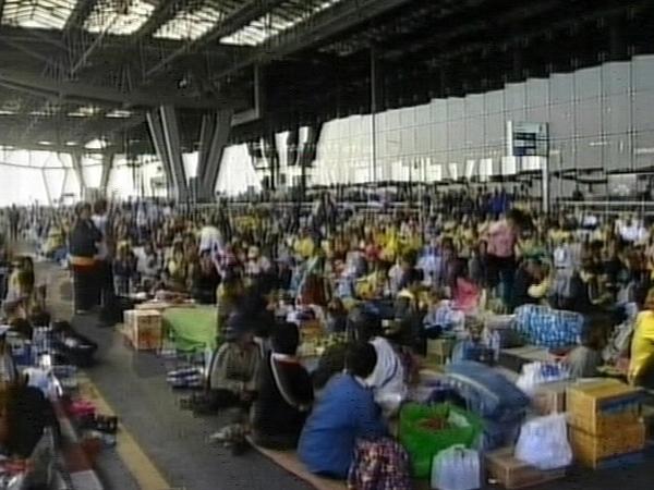 Bangkok - Protestors at Suvarnabhumi airport
