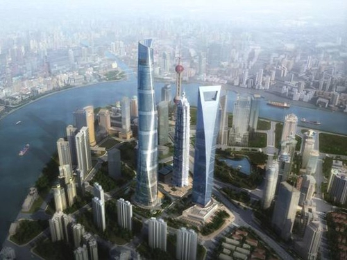 Shanghai - Tower to be built alongside China's current tallest building