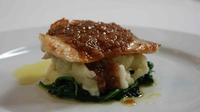 Turbot with a shallot confit and cod brandade - The delicate flavour of fresh turbot is the star attraction in this seriously tasty dish
