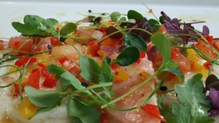 Salmon, monkfish and halibut ceviche