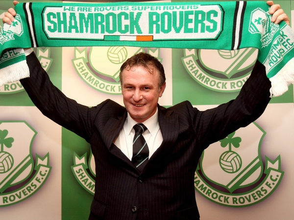 Michael O'Neill is the new manager of Shamrock Rovers