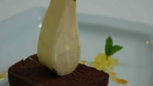 Chocolate Marquise With A Steeple Of Bitter Orange Ice Cream