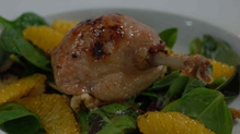 Duck Confit With Orange And Walnut Salad