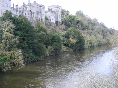 Lismore Castle on the banks of the river Blackwater