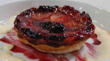 Blackberry And Apple Tart Tatin With Creme Anglaise