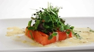 Watermelon Steak with Champagne Sauce - A 'wow factor' starter.