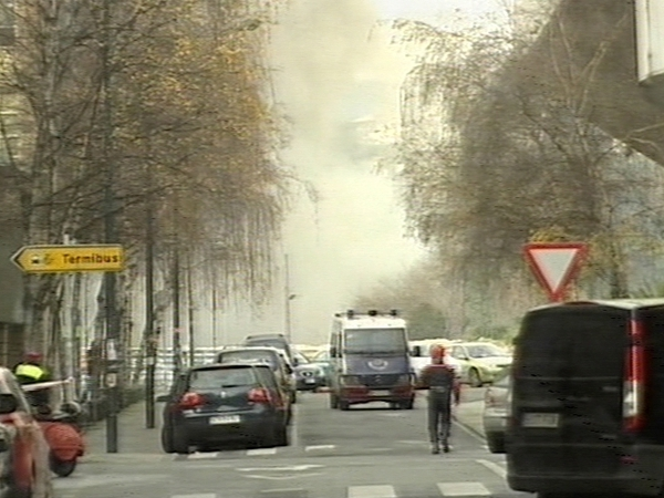 Bilbao - Emergency services evacuated television station ETB