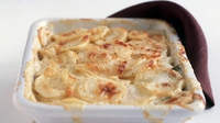 Potato, Fennel and Leek Gratin - Beat the January blues with this warming potato dish.