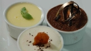 Trio Of Rich Chocolate Mousse, Banoffi Pie And Lemon Possett