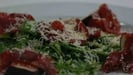 Air-dried Sliabh Luchra Beef with fresh figs, Desmond Cheese and Rocket Salad