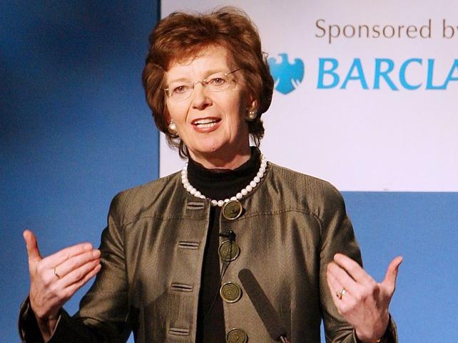 Mary Robinson - Succeeds South African Arthur Chaskalson