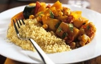 Butternut Squash, Red Split Lentil Stew - How about a healthy vegetarian stew?