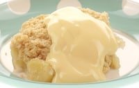 Apple Crumble a la Eva - This tasty treat comes is at around 200k calories.
