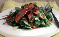 Warm Beef Salad Thai style - Dr Eva Orsmond serves up this delicous and healthy salad.