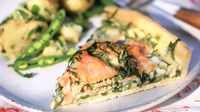 Smoked Salmon Prawn & Leek Tart - Quick and easy to prepare.