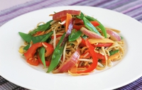 Tofu Stir Fry with Mixed Vegetables and Red Chili - At just 350 calories this can't be beaten!