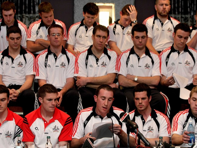 The 2008 Cork squad are standing firm in their dispute with the County Board
