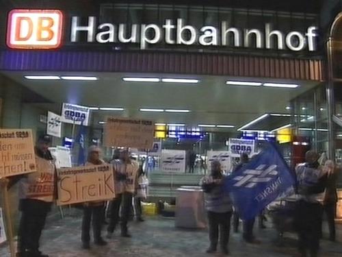 Germany - Rail workers strike