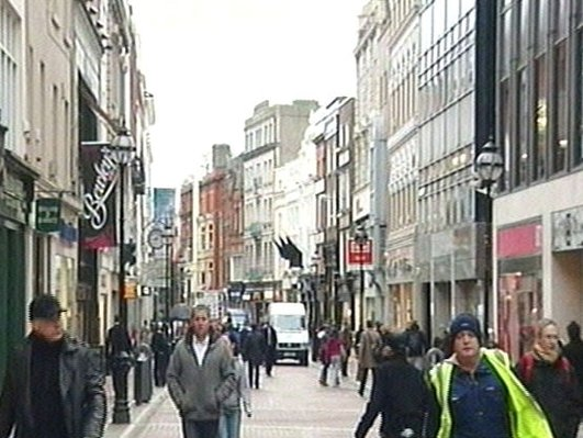 New paving on Grafton Street