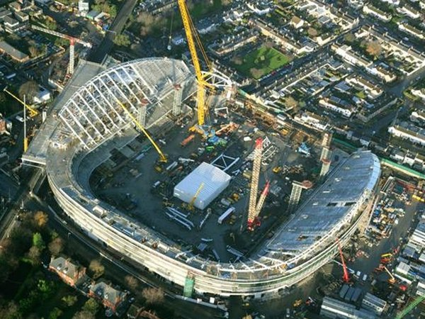 Work on the new stadium at Lansdowne Road is due to be completed next year