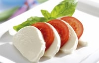 Dr Eva's Low Calorie Party Snacks - Cucumber, mozzarella and tomato appetisers.