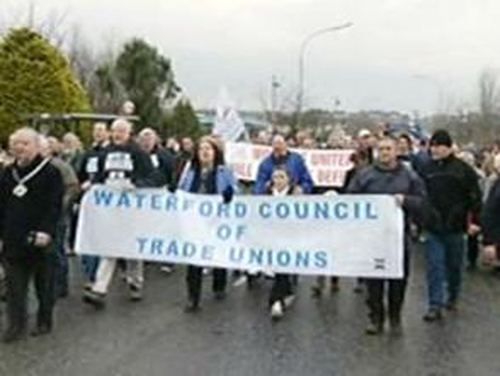 Waterford - Protest in support of Waterford workers
