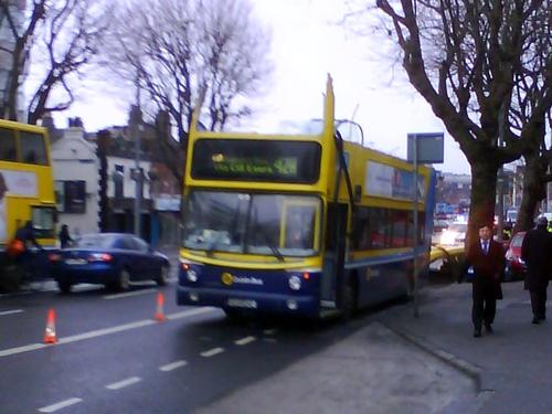 Amiens Street - Driver injured in crash - (Pic: Karl Hamilton)