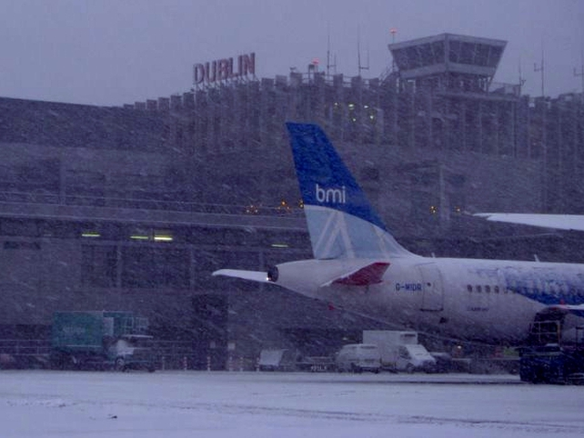 Dublin Airport - Closed yesterday due to snowfall