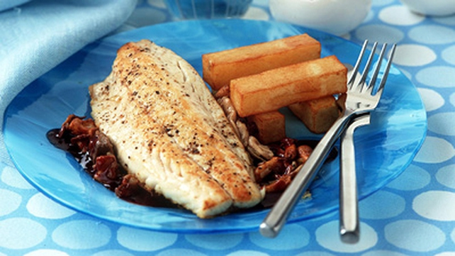 Hot Roast Seabass with Coconut, Chilli and Lime Salsa
