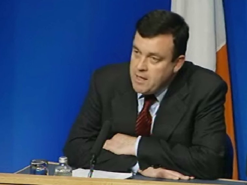Brian Lenihan - Speaking at a news conference last night