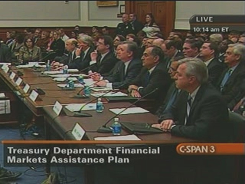 US Banking CEOs - Testified before angry members of the House Financial Services Committee
