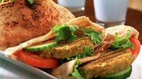 Spiced Turkey Burgers - Curry spices and fresh coriander turn these low-fat turkey burgers into something tasty and special.