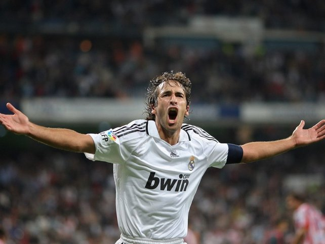 Raul has scored a massive 228 goals in 550 appearances for Real Madrid