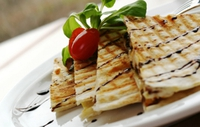Quesadilla Filled with Fennel Mash - A healthy Mexican style dinner