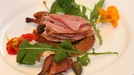 Smoked Quail on Toasted Sourdough with Black Olive Tapenade - Simone Kelly serves smoked quail on sourdough.