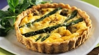 Homemade Tartlet with Wild mushrooms and Baby Leeks topped with Hollandaise Sauce - Try this delicious homemade mushroom tartlet.