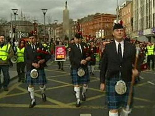 Dublin - City centre march