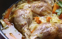 Hunters Chicken a la Eva - A herby Italian chicken dish