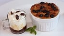 Traditional Bread and Butter Pudding with a Sultana and Pimms Cappuccino