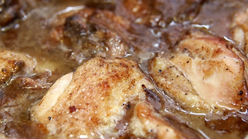 Coq Au Vin Slowly Cooked Kilkenny Free Range Chicken With Burgundy Wine Sauce Morels And Pearl O