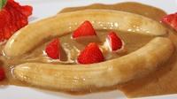 Bananas in a Caramel Cream Sauce - A luxurious dessert.