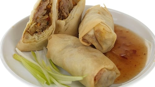 Savoury Crepes Filled with Chinese Style Pork