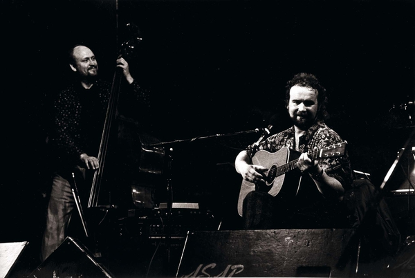 John Martyn and Danny Thompson play Dublin's Gaiety Theatre in 1987 (pic John Cooney)