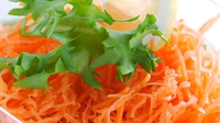 Carrot and Daikon Salad with coriander - A healthy and tasty dish.